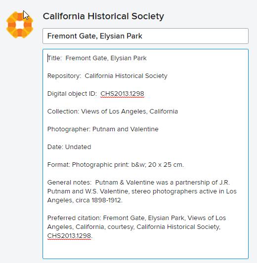 Flickr Commons metadata