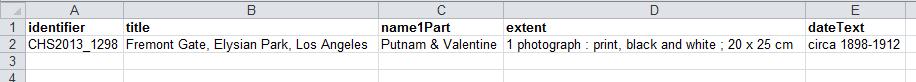 Flickr data parsed into columns